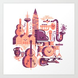 Chomba Session Art Print