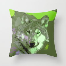 Wolf 046 Throw Pillow