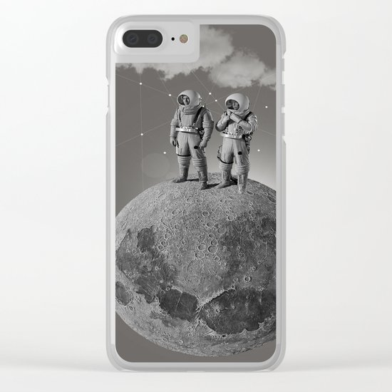 Space Race Clear iPhone Case