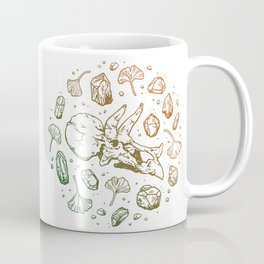 Triceratops Rocks!   Leaf Green & Pumpkin Spice Ombré Coffee Mug