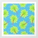 Pattern of Palm Tree-like Flowers by borianagiormova