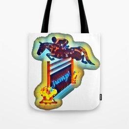Colorful Grand Prix Horse Jumper Tote Bag