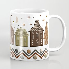 Gingerbread Row Dance in Snow White Coffee Mug