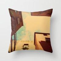 spain Throw Pillows featuring Spain by Emma.B