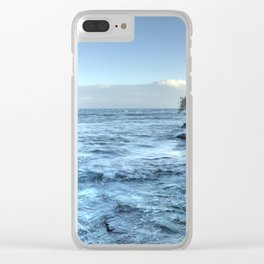 evening on the ocean Clear iPhone Case