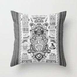 Legend of Zelda inspired Deku Nuts Vintage Advertisement Throw Pillow