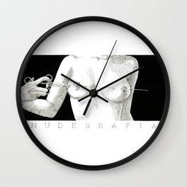 Needle and boobs Wall Clock