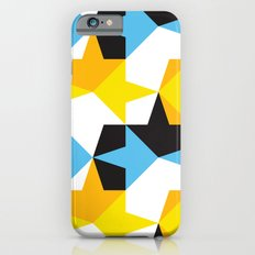 Blue, Yellow, Orange & Black Geometric Pattern Slim Case iPhone 6s