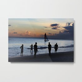 Cricket in Barbados  Metal Print