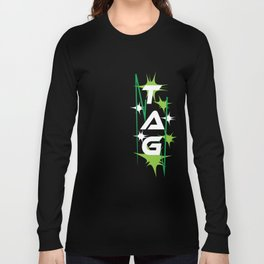 Funny Laser Tag Party T-Shirt Mode On Tag Long Sleeve T-shirt