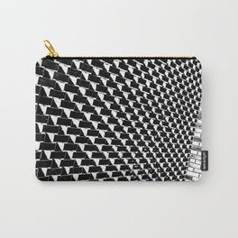 Eye Play in Styled Black and White Carry-All Pouch