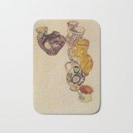 Egon Schiele - Peasants Jug  Bath Mat