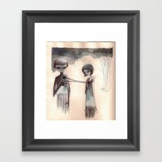 attachment Framed Art Print