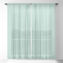 Tranquility (Green/Mint) Color Sheer Curtain