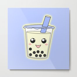 Bubble Tea Metal Print