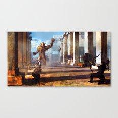 Temple Disturbance.  Canvas Print