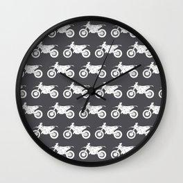 Dirt Bikes // Charcoal Grey Wall Clock