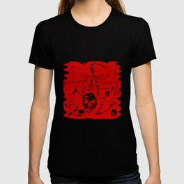 Creature With Skull Face T-shirt