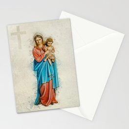 Virgin Mary And Jesus Stationery Cards