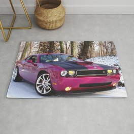 Fuchsia Panther Pink Limited Edition Hurst Challenger RT Rug
