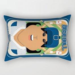 Baseball Blue Pinstripes - Deuce Crackerjack - Indie version Rectangular Pillow