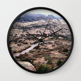 Long and winding road Wall Clock