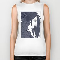 cage Biker Tanks featuring CAGE by AJM_