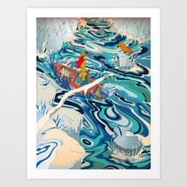 """The Hidden Ocean Patch That Broke Climate Records"" by Paulo D. Campos for Nautilus Art Print"