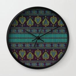 Persian Carpet Teal Wall Clock