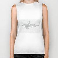killer whale Biker Tanks featuring Killer Whale by Michaela Parry