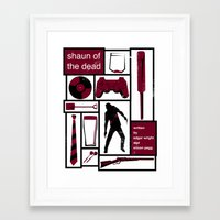 shaun of the dead Framed Art Prints featuring Shaun of the Dead by Stephanie Vanelli