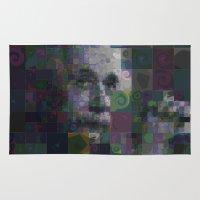 einstein Area & Throw Rugs featuring Einstein by Artstiles