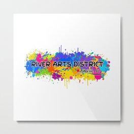 River Arts District - Asheville - AVL 17 White Metal Print