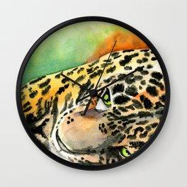 Lounging Leopard Wall Clock