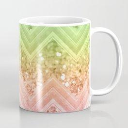 Rainbow Glitter Chevron #1 #shiny #decor #art #society6 Coffee Mug