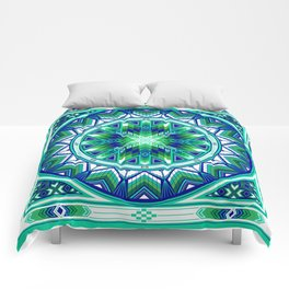 Sacred Places Green Comforters