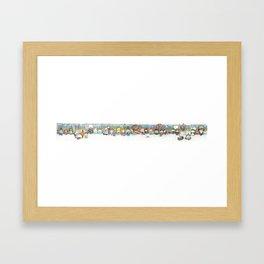 Subway Peeps Framed Art Print