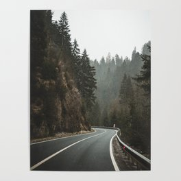 Mountain Road. || Italy. || Dolomites. || Alps. || Winter. || Road Trip. || Traveling Poster