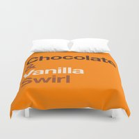 oitnb Duvet Covers featuring Chocolate & Vanilla Swirl OITNB by Maria Giorgi