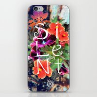 silent iPhone & iPod Skins featuring Silent by tomthebigbear