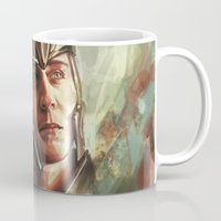 alicexz Mugs featuring The Prince of Asgard by Alice X. Zhang