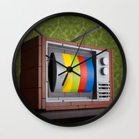 springsteen Wall Clocks featuring 57 Channels and Nothing On by powerpig