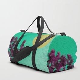 Pine tree and purple polka dots Duffle Bag
