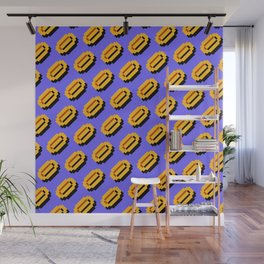 Super M. Brs coins pattern   blue sky   funny retrogaming nostalgia Wall Mural
