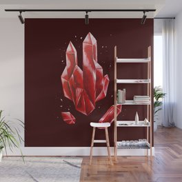 Crystal Red Wall Mural