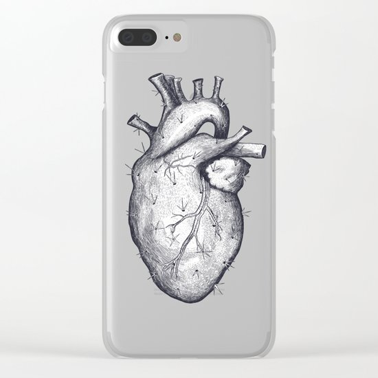 Cactus heart Clear iPhone Case