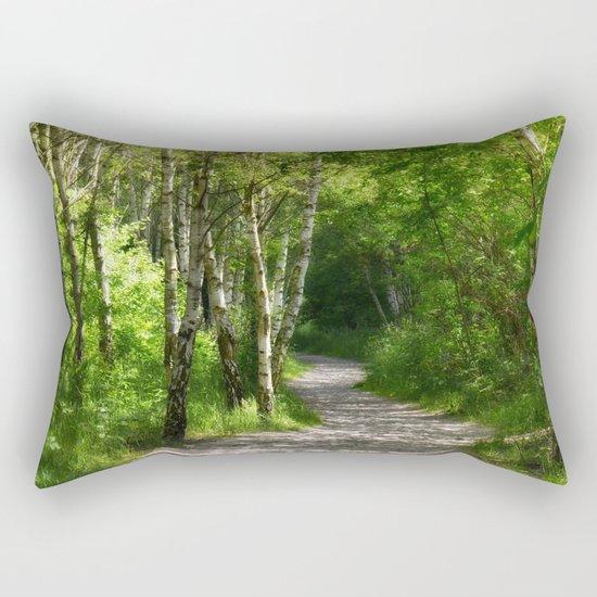 Forest path 45 Rectangular Pillow