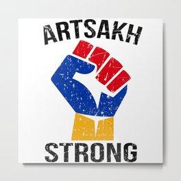 Artsakh Strong Shirt Metal Print