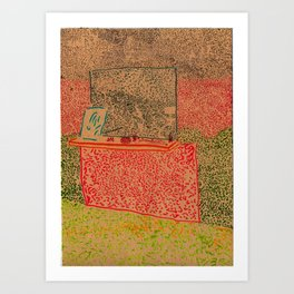mantelpiece (crooked) Art Print