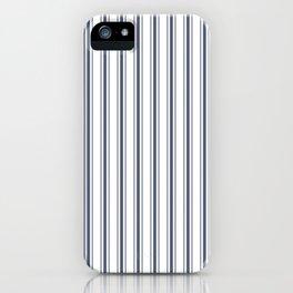 Dark Sargasso Blue Mattress Ticking Wide Striped Pattern - Fall Fashion 2018 iPhone Case